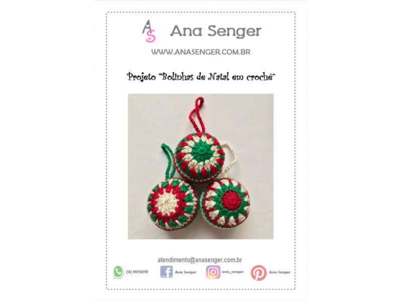 """Projeto """"Bolinhas de Natal em crochê"""""""