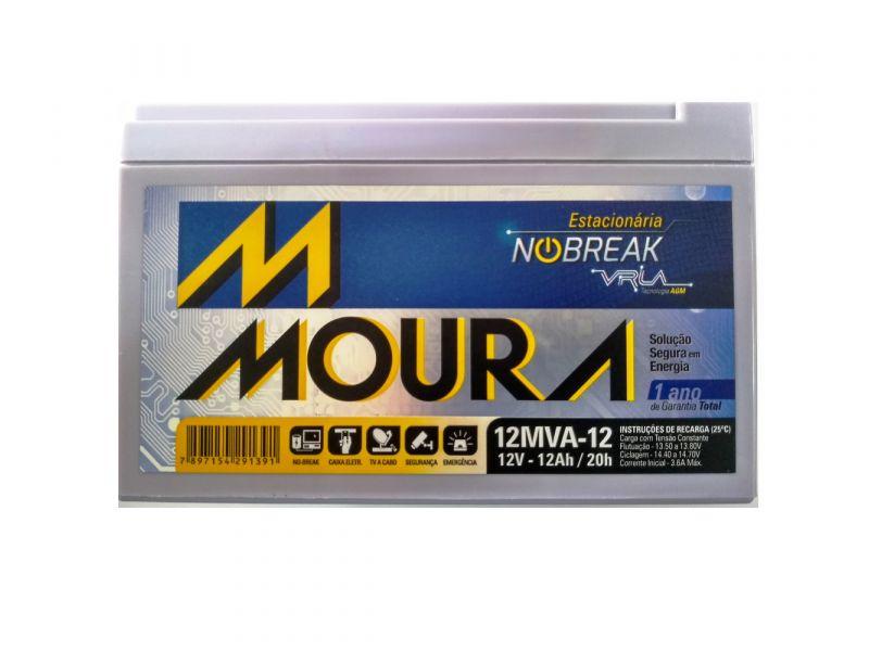 Bateria Moura 12ah PATINETE ELÉTRICO BIKE BICILETA ELÉTRICA  NOBREAK Moura Vrla 12mva-12