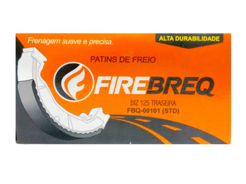 PATINS FREIO  Biz 125 Ks / Es  POP 100 CRF 100 C100 BIZ BROS TRASEIRA CRF 230 T BROS 160 TRAS CRF 250 T  - FBQ00101