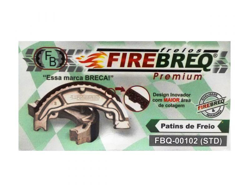 PATINS FREIO  YBR 125 K FACTOR 125 APACHE 150  XTZ 125 - FIREBREQ - FBQ00102