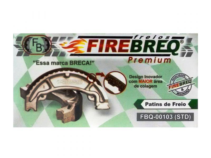 PATINS FREIO CG 125 TITAN  1983 À 1999 - 83  À  99 - SUPER 50  SUPER 100  SMART 125 - FIREBREQ - FBQ00103