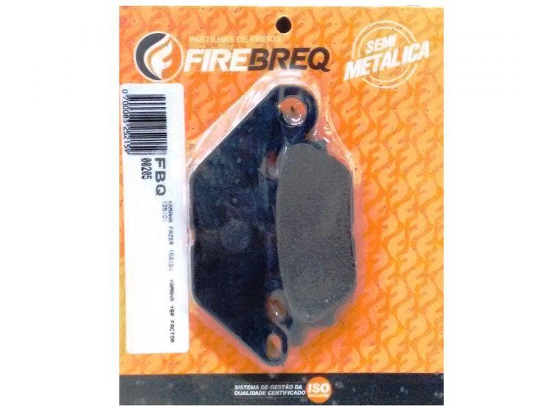 PASTILHA FREIO  Fazer 150 Ybr Factor 125 - FIREBREQ - FBQ00205