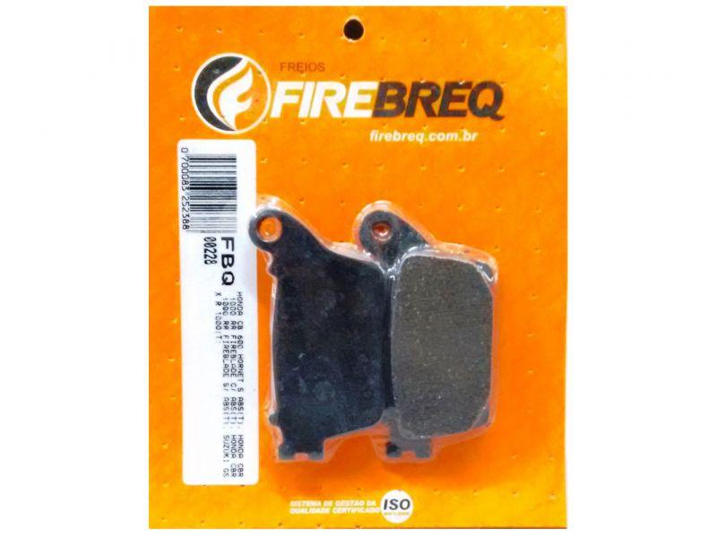 PASTILHA FREIO CB 600 HORNET CBR 100 RR FIREBLADE  CBR 100 RR FIREBLADE  SUZUKI GS X R 1000 - FIREBREQ - FBQ00228