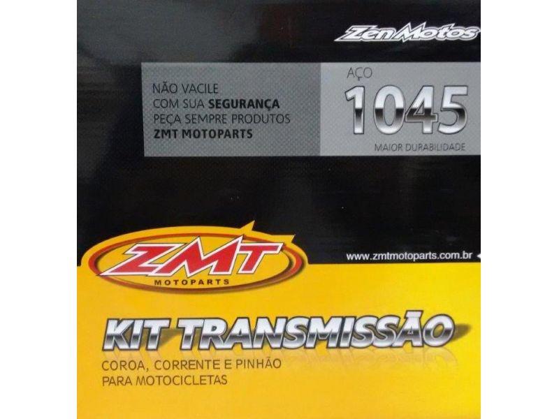 KIT RELAÇÃO TRANSMISSÃO YAMAHA CROSSER 150 - AÇO 1045 - COROA CORRENTE PINHÃO KCPCA04