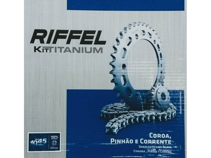 Kit Transmissão Xtz 250 Lander 250 Riffel Aço 1045