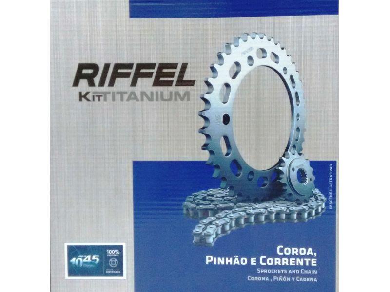 Kit relação  Cg 150 Original Riffel  todos anos 71827
