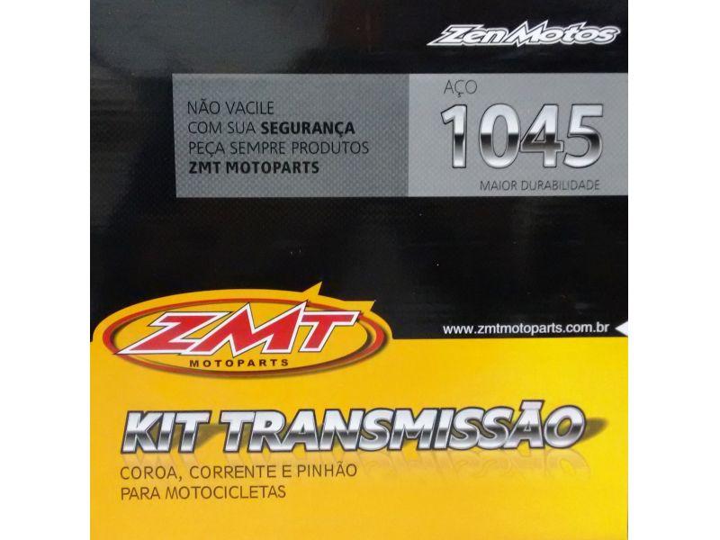 Kit Relação Transmissão Cg 125 Ks Es 2014 Em Diante AÇO 1045