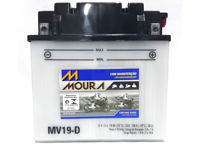 Bateria Jet Ski 19ah Bateria De Jet Ski 19 Amperes MOURA  Mv19-d JS 750  SEADOO GTI 130 SE YAMAHA VX SPORT VX 700