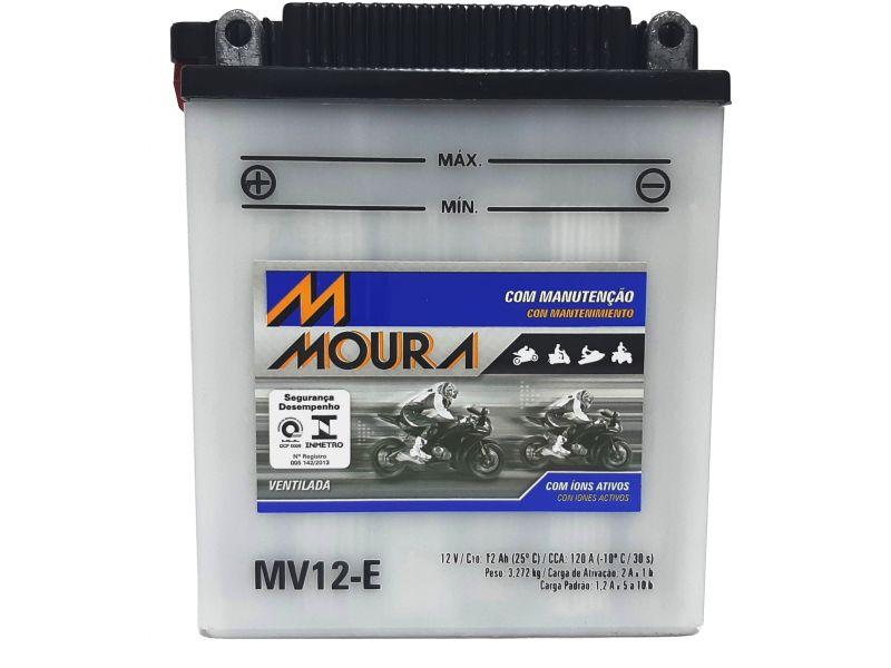 Bateria CB 400 CB 450 CBR 450 SR Moto 12ah Bateria De Moto 12v 12a 12 Amperes MOURA Mv12-e CB 400 CB 450 CBR 450 SR