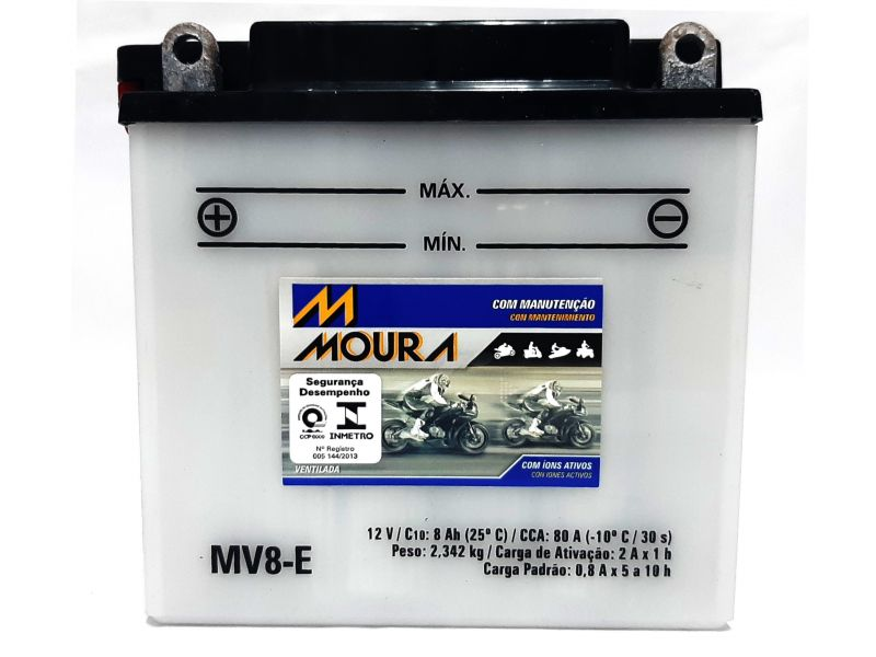 Bateria YES 125 GS 150 Moto 8ah Bateria De Moto 12v 8 Amperes MOURA Mv8-e GSR 150i  150 S GSR 125  GS 120 INTRUDER 125  SUZUKI EN YES 125