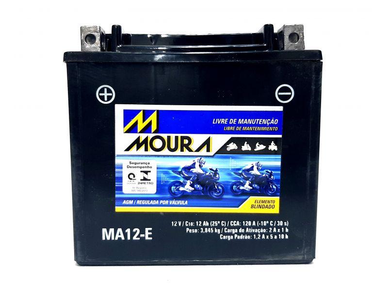 Bateria Moto 12ah Bateria De Moto 12v 12a 12 Amperes MOURA Ma12-e BMW  GS 800 F 800 GS MIDNIGHT STAR DL 1000 QUADRICICLO HONDA