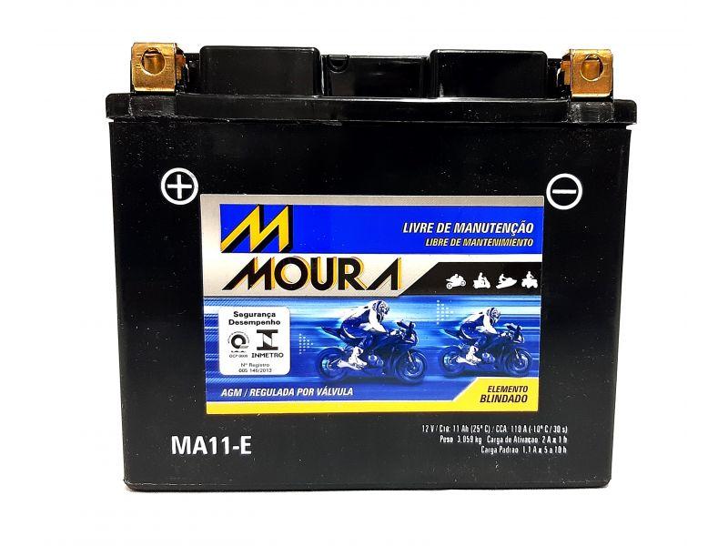 Bateria XJ6 MOTO 11ah Bateria De Moto 12v 11a 11 Amperes MOURA Ma11-e  XJ6 600  FAZER 600 DRAGSTAR 650