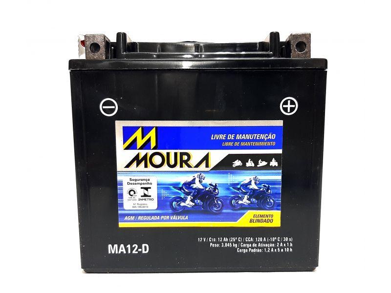 Bateria Moto 12ah Bateria De Moto 12v 12a 12 Amperes Ma12-d - HARLEY DAVIDSON 883R  IRON 883   1200 CUSTOM Forty-Eight