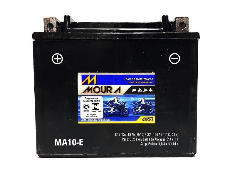 Bateria Moto 10ah Bateria De Moto 12v 10a 10 Amperes MOURA Ma10-e  CITYCOM 300 300i  NINJA 650  DL 650