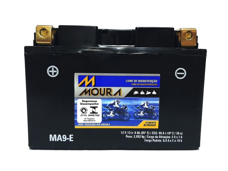 Bateria Moto 9ah Bateria De Moto 12v 9a 9 Amperes MOURA Ma9-e TRANSALP 700  NINJA 650 BANDIT 1250
