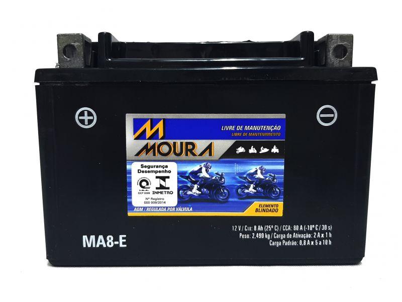 Bateria Moto 8ah CB 500 CB500 COMET 250 XT 600  NINJA 250 NINJA 300 SHADOW 600  MA8-E