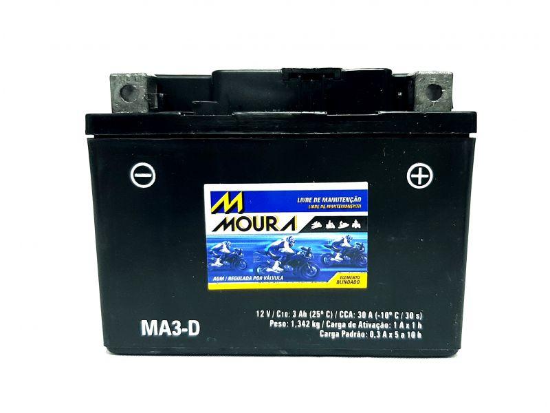 Bateria De Moto 12v 3ah Bateria Moto 3 Amperes 3a Ma3-d - NEO 2011 BIZ C100