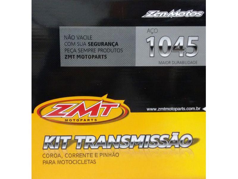 KIT RELAÇÃO TRANSMISSÃO CRYPTON 100  105  YAMAHA 1997 A 2005 NOVO ZMT