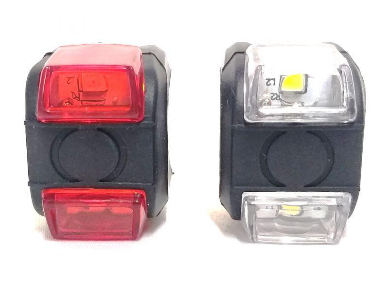 VISTA LIGHT PARA BIKES  COM DOIS LEDS  3 MODOS PILHA INCLUSA