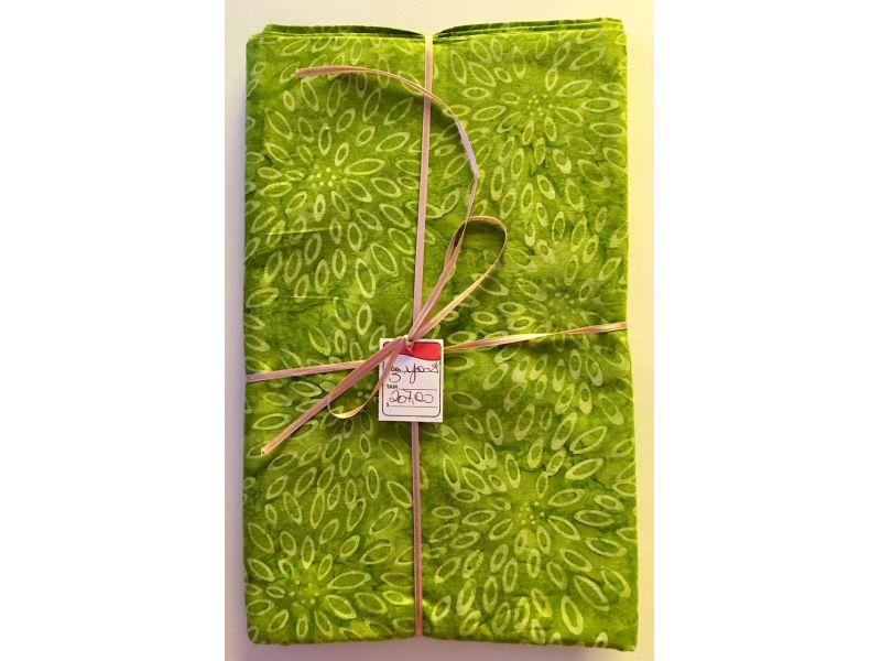 Batik verde folha 3 yards