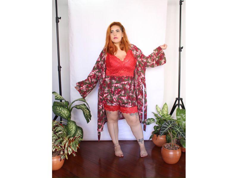 Combão 2 - Pijama Short, Brusinha e Robe