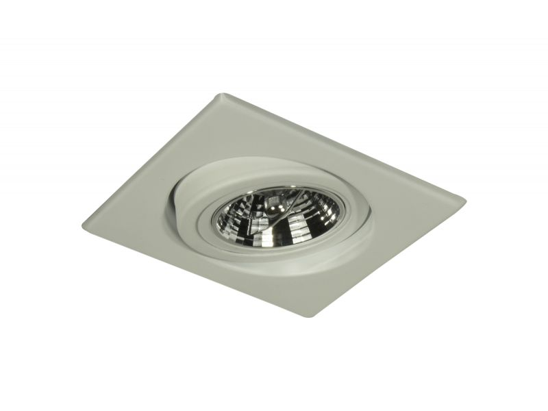 Spot de Embutir Quadrado Branco para lâmpada AR70