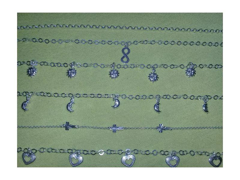 Conjunto com 6 pulseiras em prata