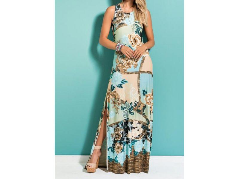 Vestido Longo Mix Floral Quintess
