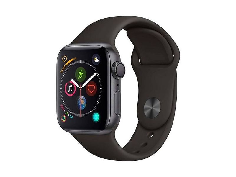 Apple Watch Series 4 GPS 44mm Cinza Espacial Case With Preto Sport Band -