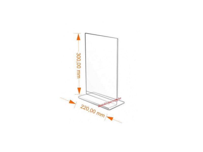 Display Acrilico T Restaurantes 10cm x 15cm de mesa