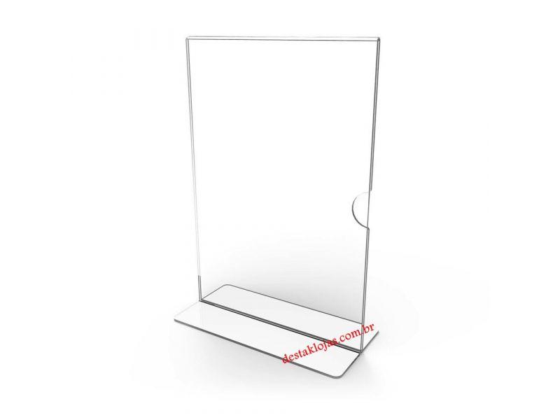 Display Acrilico ou Porta Folha T , A 4  30 cm x 21 cm