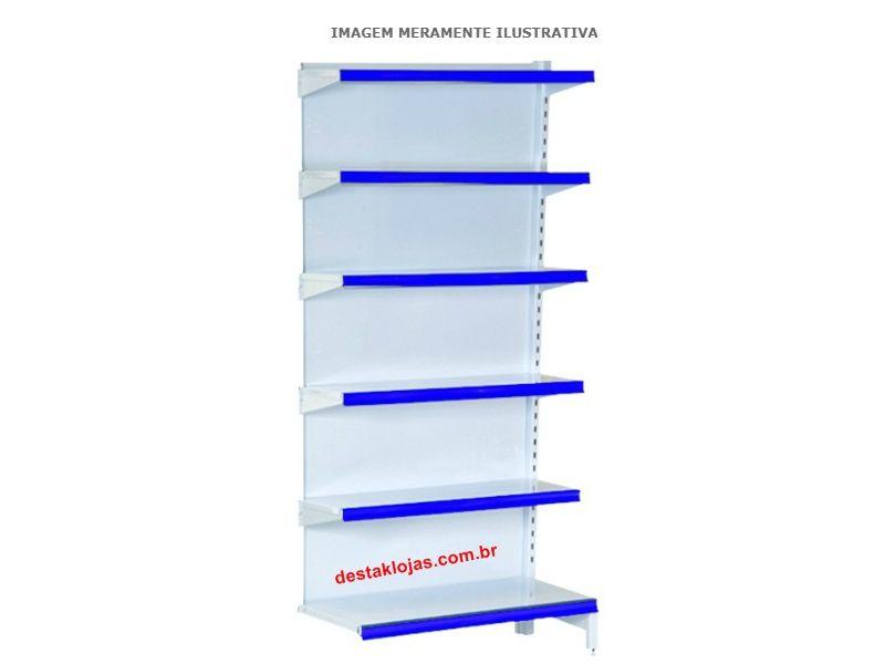 Gondola de Parede continuação Alt 2m X Comp 0,91m X Base 0,40m + 5 de 0,30m 35 kl R$389,00