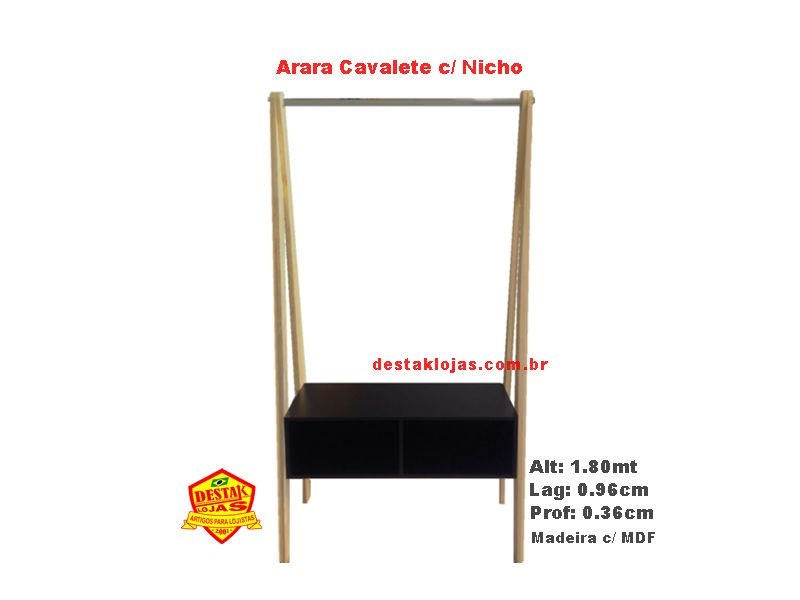Arara Cavalete com Nicho