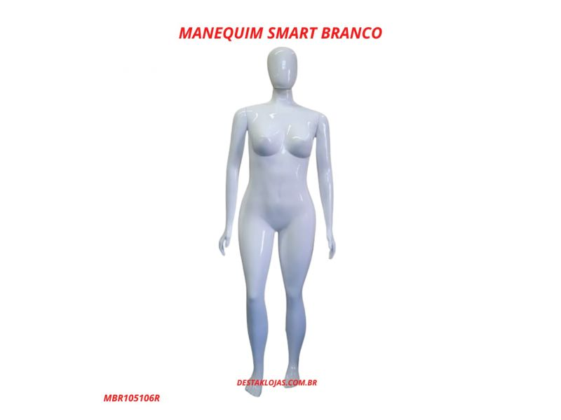 MANEQUIM FEMININO SMART BRANCO MBR105106R