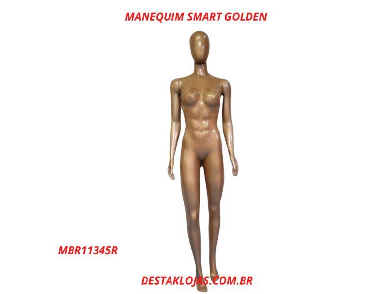 MANEQUIM FEMININO SMART GOLDEN