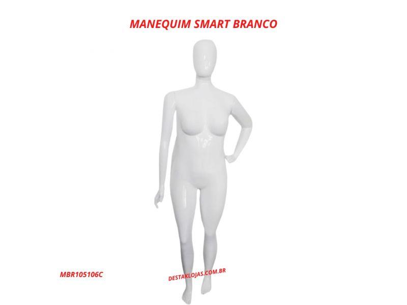 MANEQUIM FEMININO SMART BRANCO MBR105106C