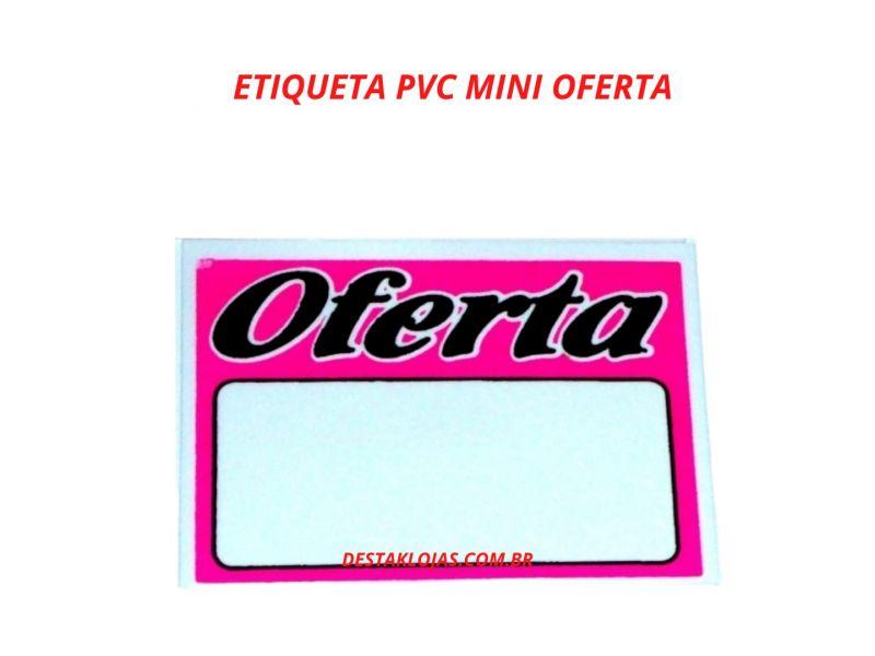 ETIQUETA PVC MINI OFERTA ROSA