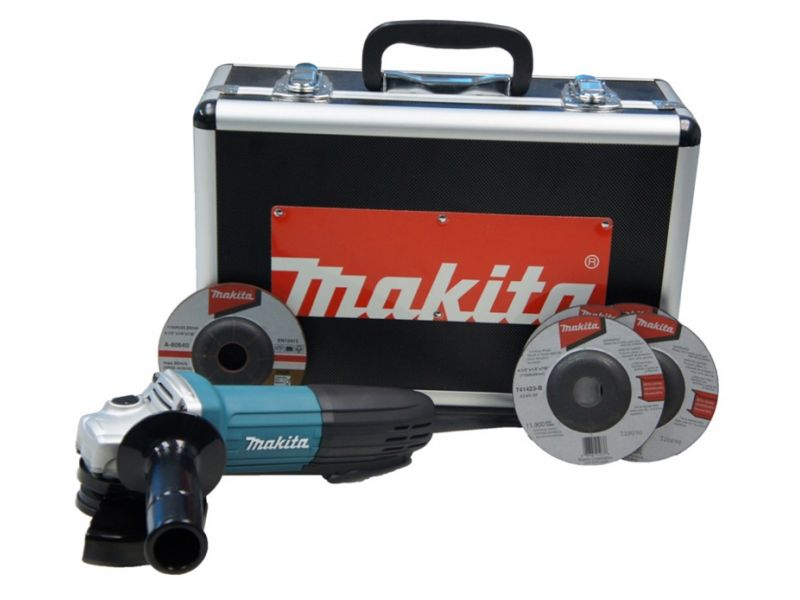 Kit Esmerilhadeira + Maleta 720W GA4534K MAKITA