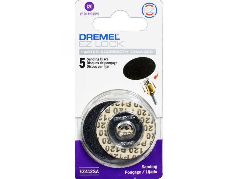 Kit 5 pcs Discos Lixa 3,2mm Grão 120 EZ-Lock Dremel EZ412 SA