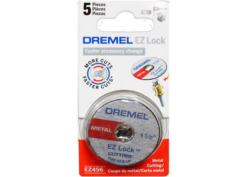 Kit 5 peças Discos Corte para Metal 1.1/2 Pol (38,1mm) Dremel EZ456