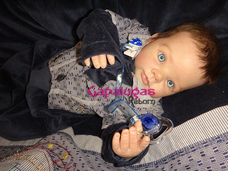 Bebê Reborn Kit Dumpling - Seu nome Miguel