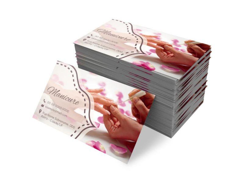 Cartões de Visita Papel Cuchê 250g UV Total Frente 4x0 cor frente