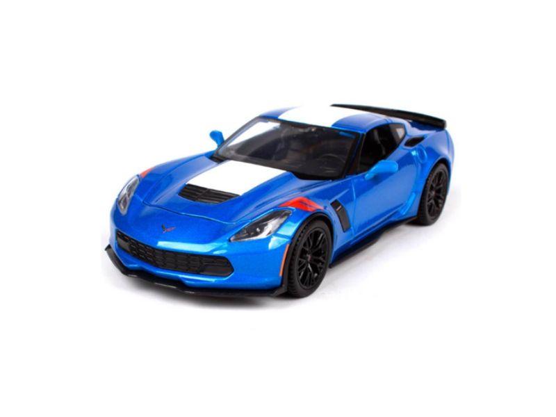Chevrolet: Corvette Grand Sport (2017) - Special Edition - Azul - 1:24 - Maisto