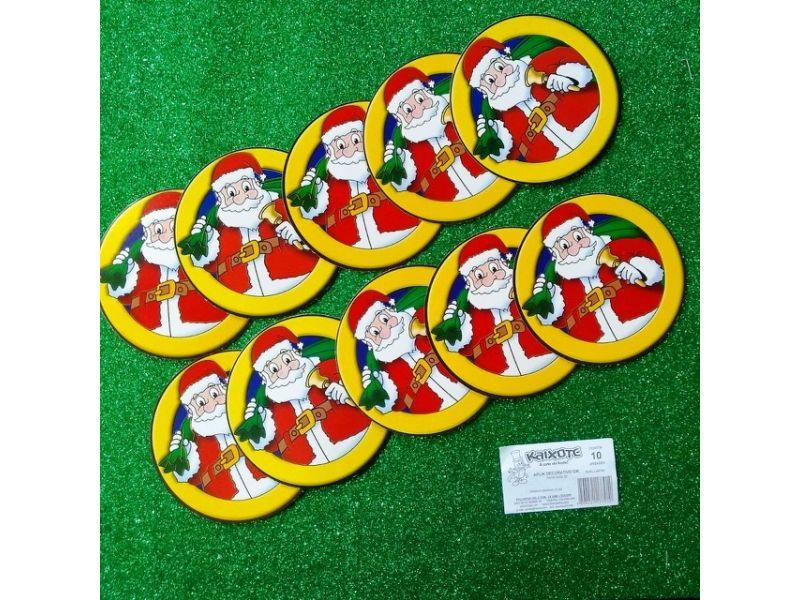 Aplique Decorativo Papai Noel com 10 unidades
