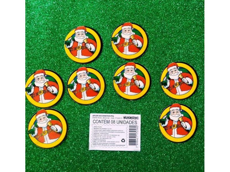 Aplique Decorativo Papai Noel pequeno com 10 unidades