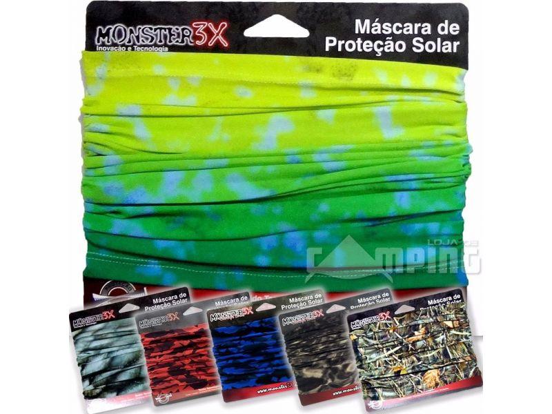 Mascara Proteção Solar Monster 3x Bandana Filtro Uv