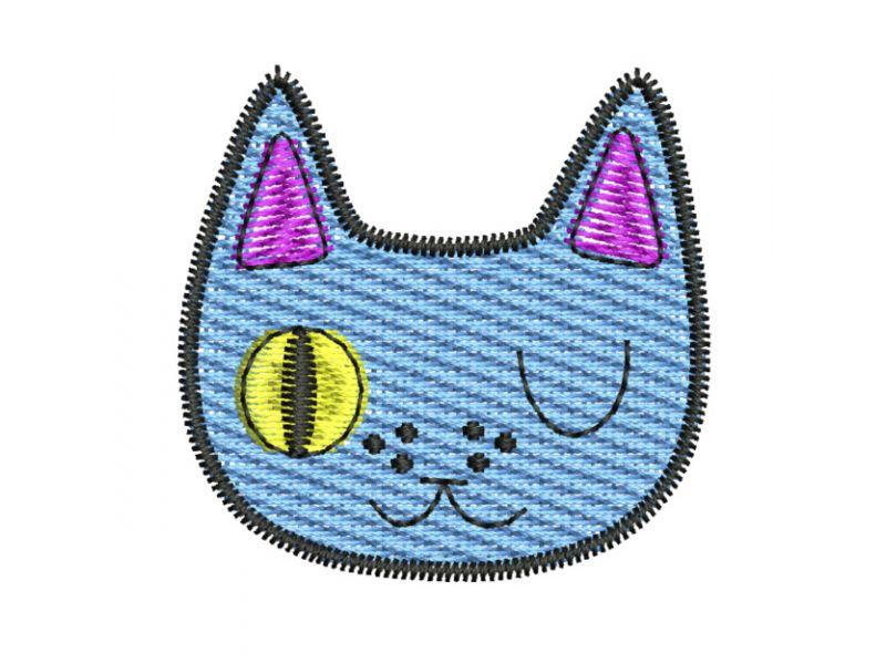 Patch Gatinho Azul - Termocolante