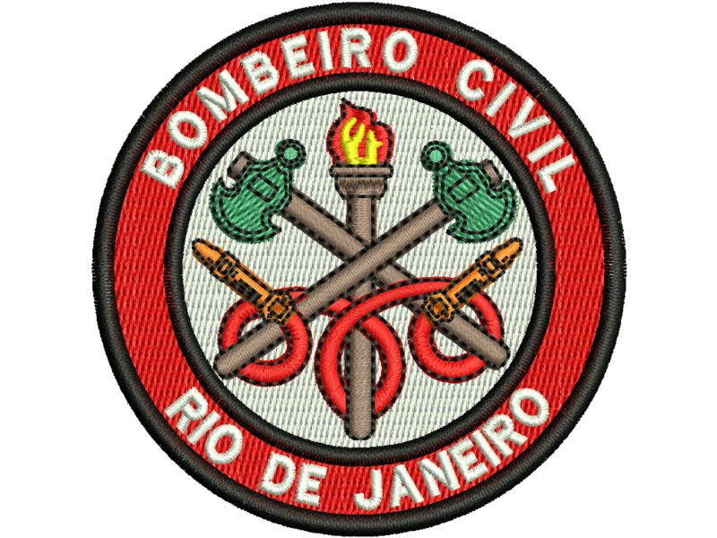Patch Bombeiro Civil - Termocolante