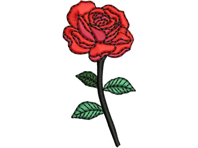 Patch Rosa Vermelha - Termocolante
