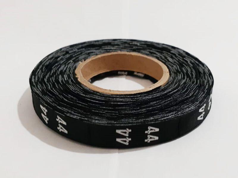 Etiqueta Tafetá Bordada - Rolo 20 metros - Numeração - (51 até 100 unid.)